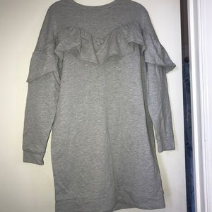 Gray Long Sleeve Dress 👗